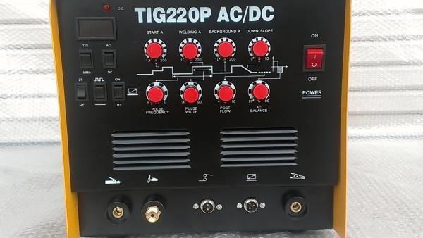 インバーター 直流/交流 TIG溶接機 最大出力220A アルミ 銅/鉄 TIG220P 新品 DC/AC
