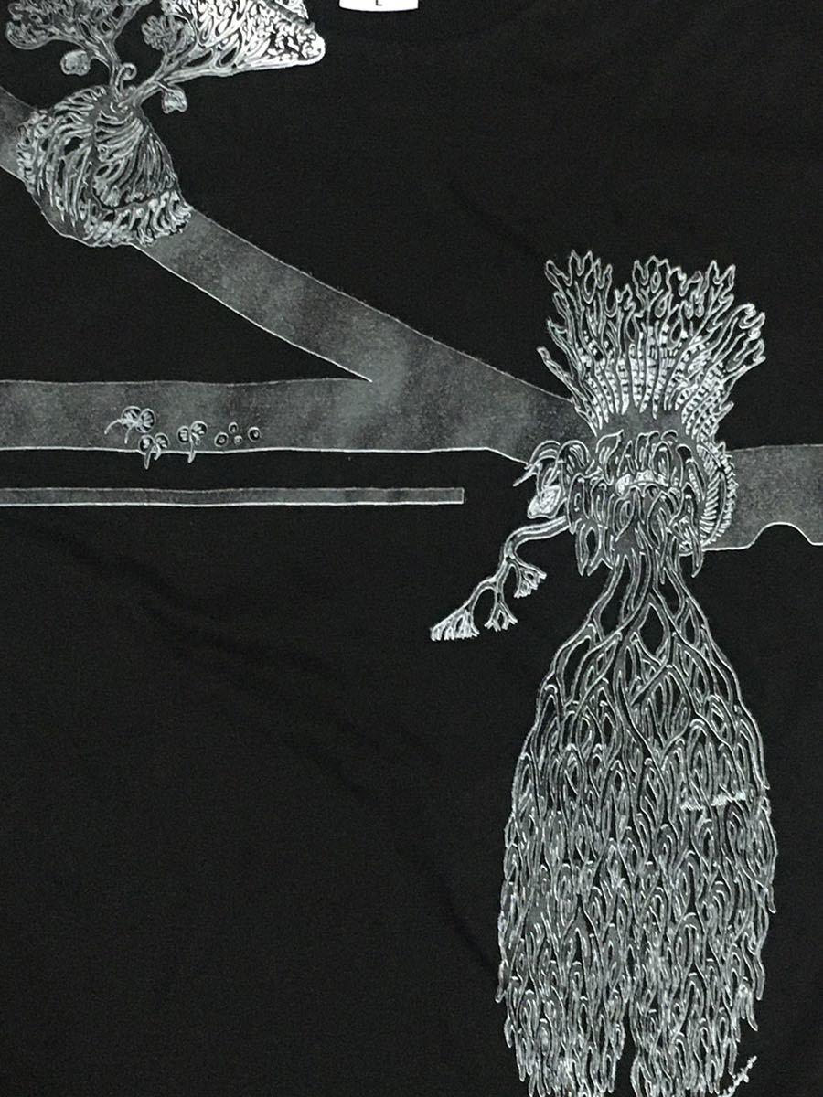 お洒落ビカクシダ Lサイズ 半袖Tシャツ aroundaglobe コロナリウム リドレイ エレファントティス 自然大爆笑 コウモリラン 植物