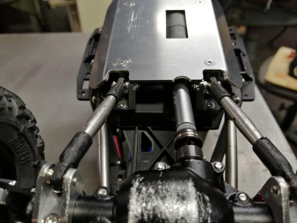 タミヤ CC-02用 ステンレス製 アンダーガード アンダーカバー
