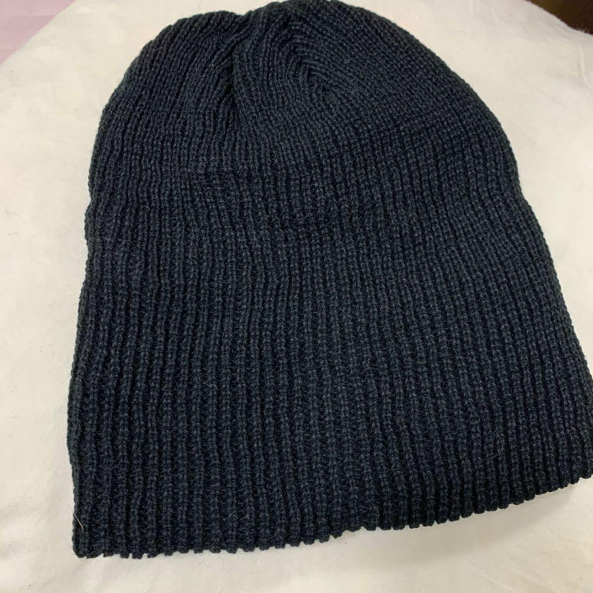 ニット帽 ビーニー ニットキャップ 秋冬 男女 ブラック