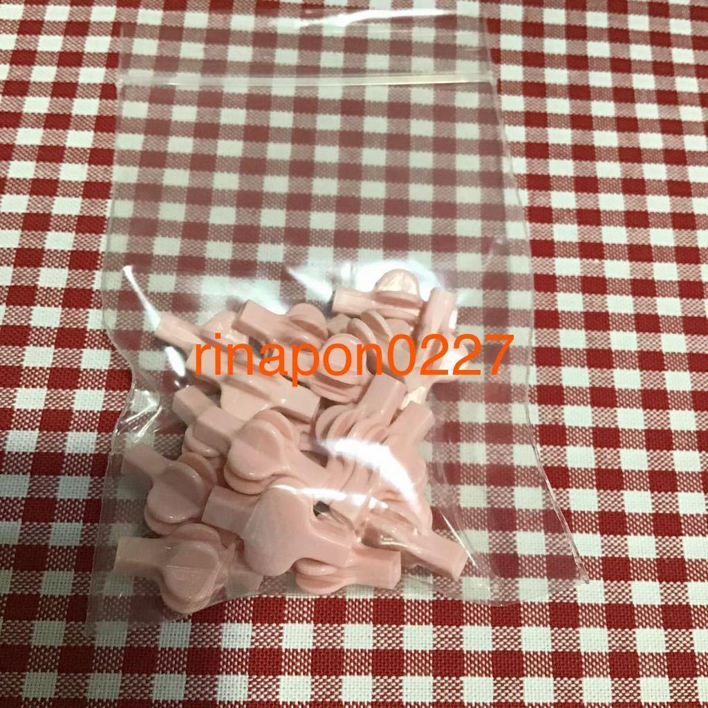 used 「 LaQ ラキュー ジョイント パーツ ピンク色 No.7 20個 」 / 90°角度2箇所付き / 20ピース/ パズルブロック 知育玩具おすすめ_画像3
