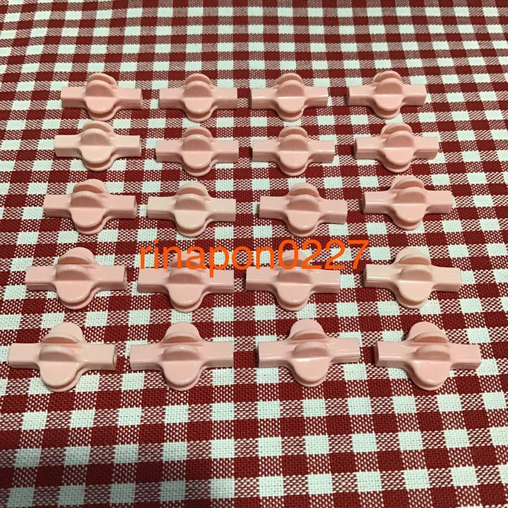 used 「 LaQ ラキュー ジョイント パーツ ピンク色 No.7 20個 」 / 90°角度2箇所付き / 20ピース/ パズルブロック 知育玩具おすすめ_画像1