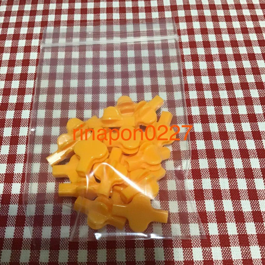 used 「 LaQ ラキュー ジョイント パーツ 橙色 No.7 20個 」 / 90°角度2箇所付き / オレンジ /20ピース/ パズルブロック 知育玩具おすすめ_画像3