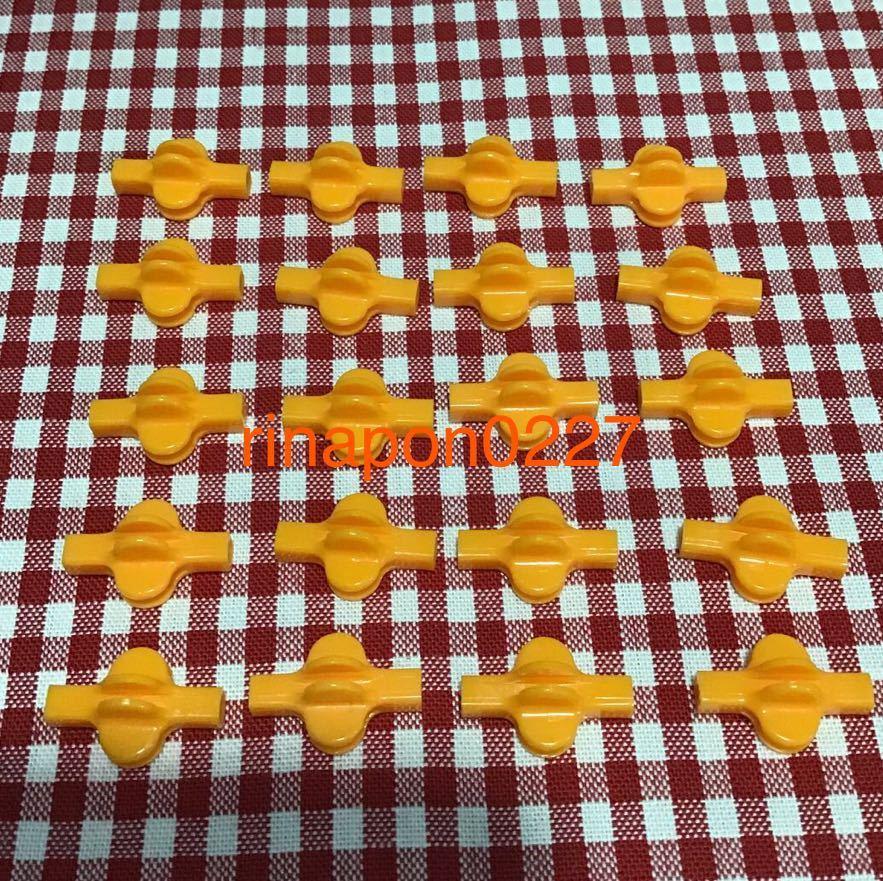 used 「 LaQ ラキュー ジョイント パーツ 橙色 No.7 20個 」 / 90°角度2箇所付き / オレンジ /20ピース/ パズルブロック 知育玩具おすすめ_画像1