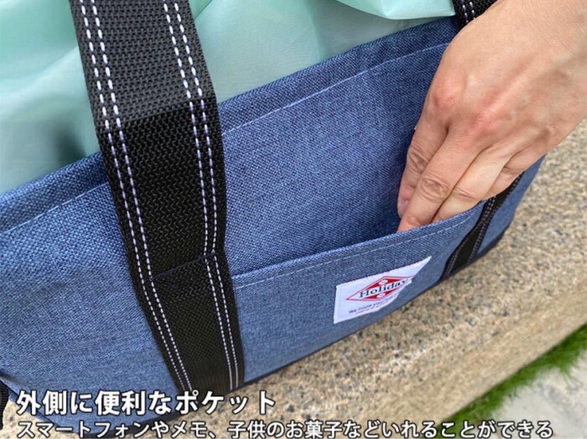 レジカゴバッグ 保冷保温折りたたみ エコバッグ 大容量レジかごバックパープル