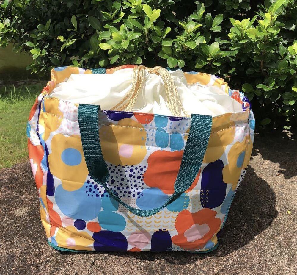 保冷保温レジカゴバッグ 折りたたみエコバッグ 大容量トートバッグ レジかご