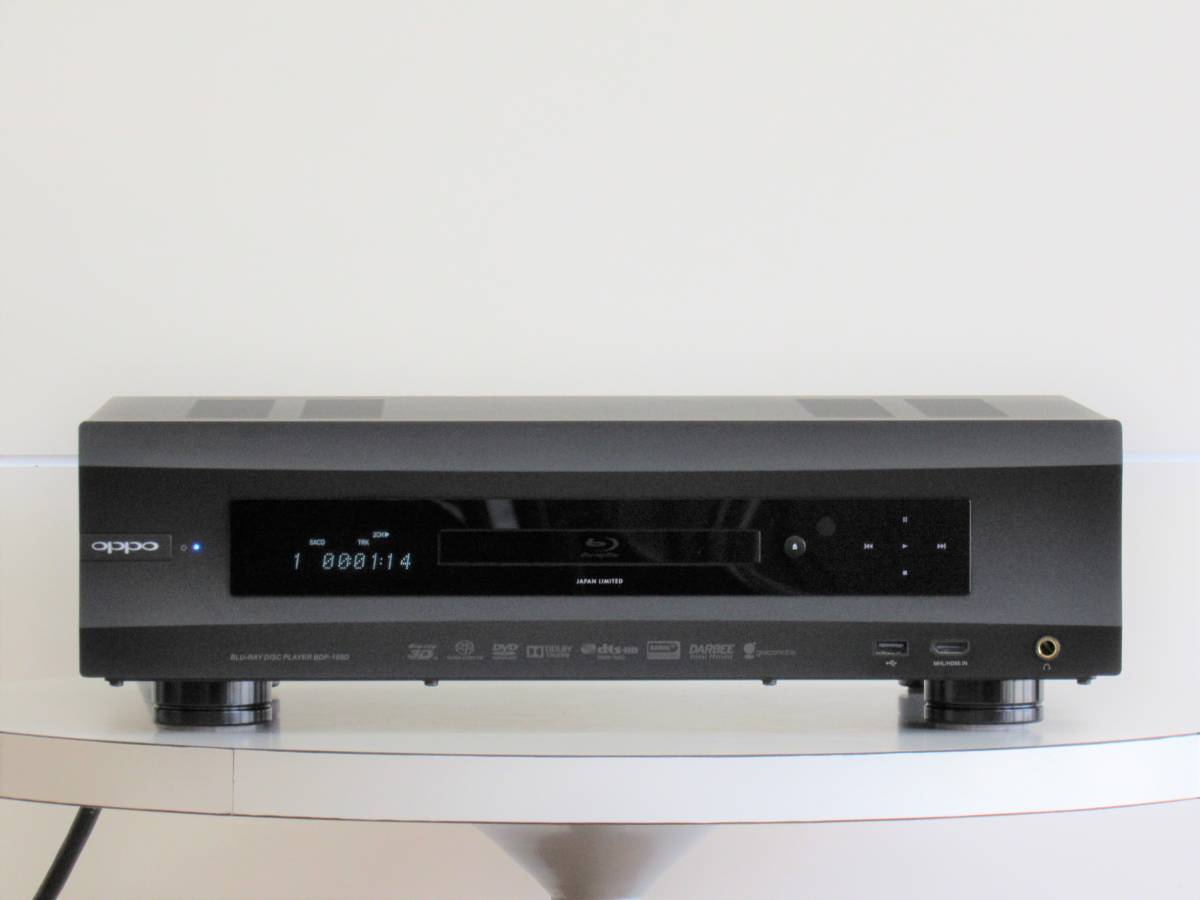 OPPO BDP-105D JAPAN LIMITED ユニバーサルプレーヤー Universal Audiophile 3D Blu-ray Disc Player/美品