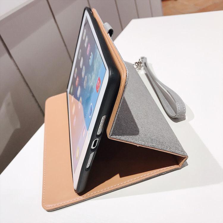 ipad mini5 ケース アイパッドミニ5 ケース 7.9インチ 手帳型 ビジネス オードスリーブ機能 段階調整 ストラップ付き_画像5