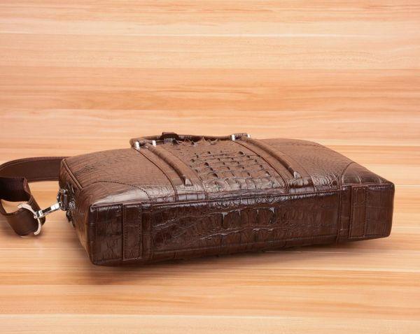 クロコダイル ワニ革 レザー 本革 斜め掛け トート ショルダーバッグ A4/PC対応 ビジネス 鞄 ブリーフケース 出張通勤 メンズ ハンドバッグ_画像5