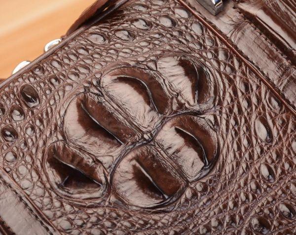 クロコダイル ワニ革 レザー 本革 斜め掛け トート ショルダーバッグ A4/PC対応 ビジネス 鞄 ブリーフケース 出張通勤 メンズ ハンドバッグ_画像4