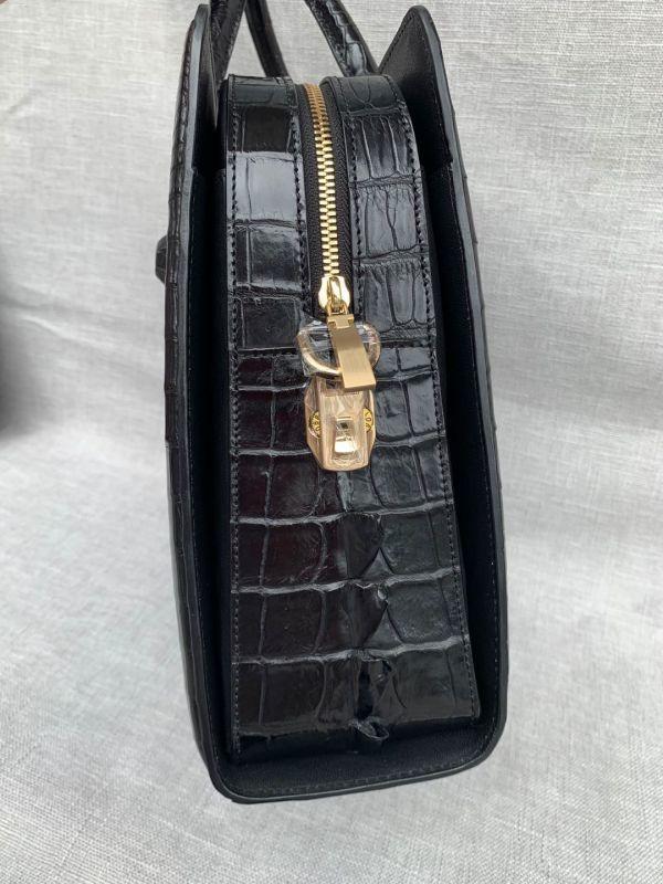 クロコダイル ワニ革 レザー 本革 斜め掛け ショルダーバッグ A4書類対応 ブリーフケース 旅行通勤出張 ビジネス トート ハンドバッグ 鞄_画像4