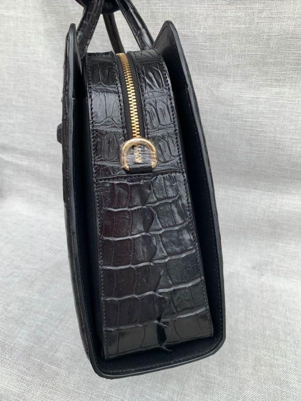 クロコダイル ワニ革 レザー 本革 斜め掛け ショルダーバッグ A4書類対応 ブリーフケース 旅行通勤出張 ビジネス トート ハンドバッグ 鞄_画像5
