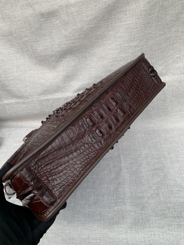 クロコダイル レザー ワニ革 本革 斜め掛け トート ショルダーバッグ A4書類対応 ブリーフケース 旅行通勤出張 ビジネス ハンドバッグ 鞄_画像5