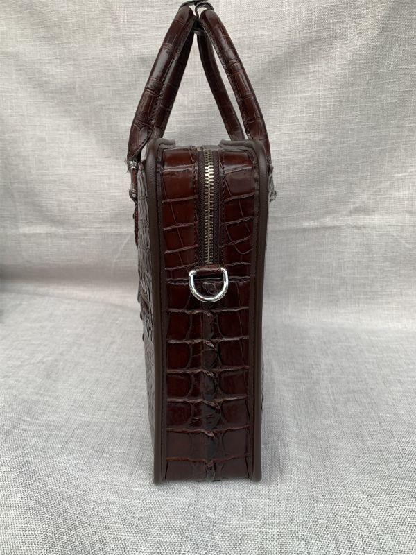 クロコダイル レザー ワニ革 本革 斜め掛け トート ショルダーバッグ A4書類対応 ブリーフケース 旅行通勤出張 ビジネス ハンドバッグ 鞄_画像6