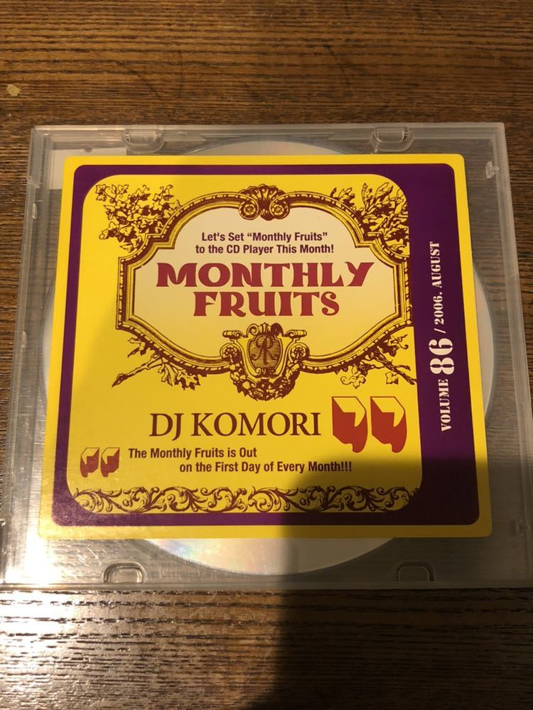 MIXCD R&B MIXTAPE DJ KOMORI MANTHLY FRUITS VOL 86 KAORI DADDYKAY DDT TROPICANA MURO_画像1