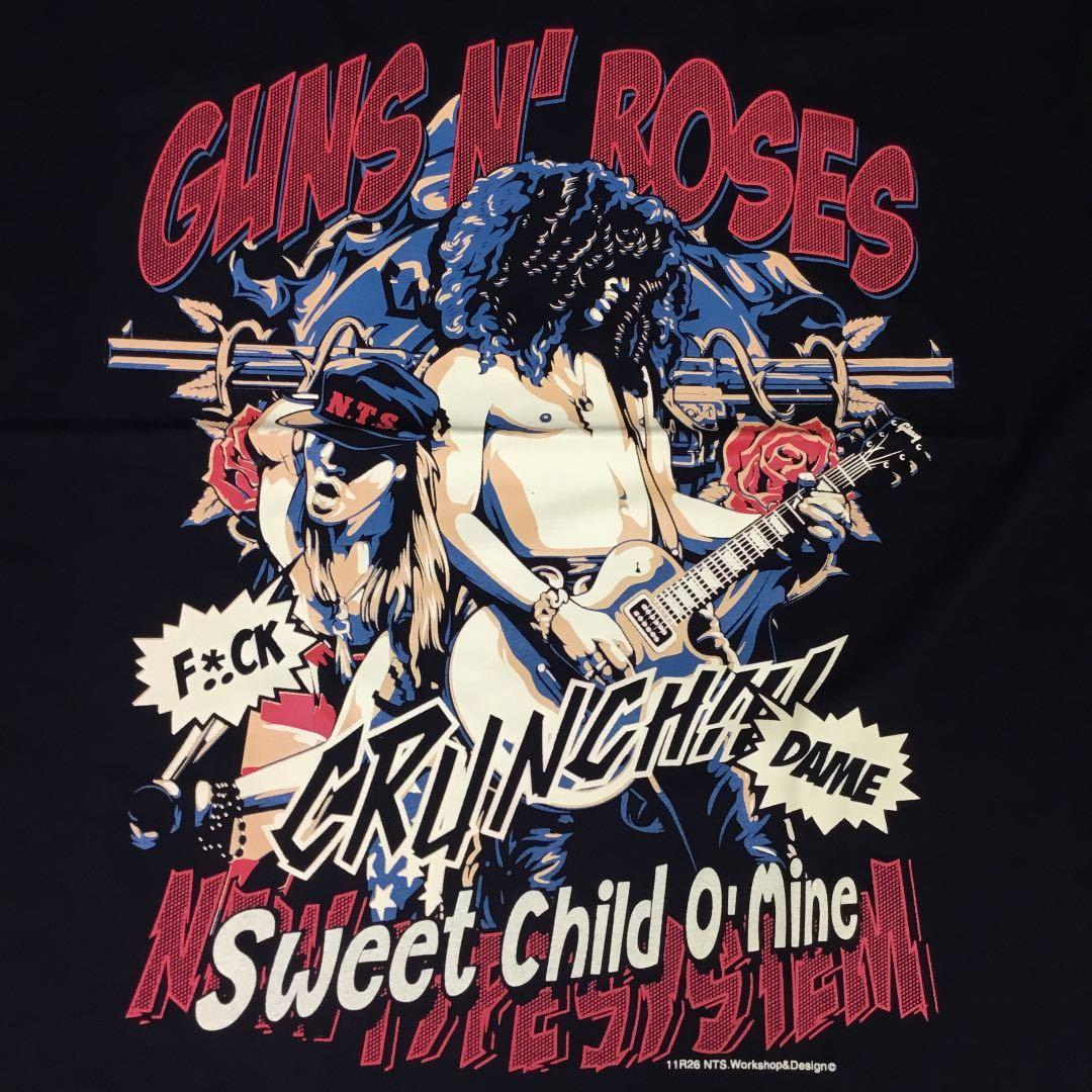バンドデザインTシャツ XXLサイズ ガンズアンドローゼズ GUNS N' ROSES ① BSBT1