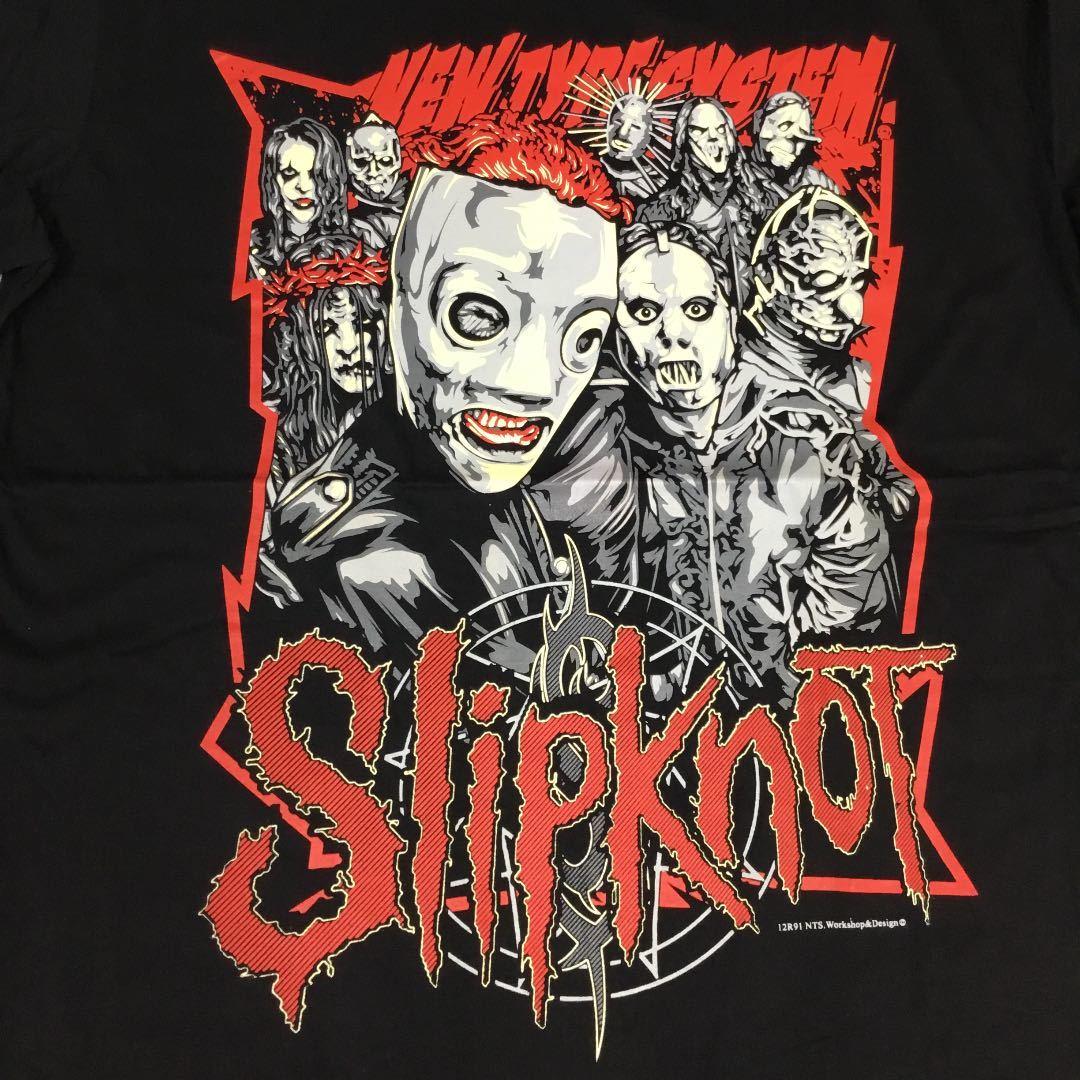 バンドデザインTシャツ XLサイズ スリップノット SlipknoT ① BSCT2