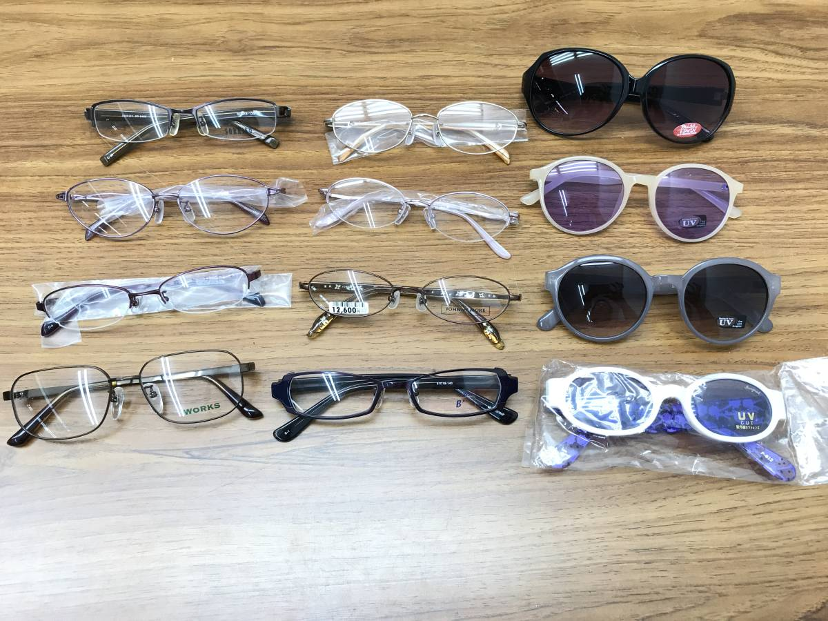 ⑨【新品★高品質メガネ・サングラス100本まとめ】大特価 安い お買い得 チタン メガネフレーム 眼鏡 セット売り 大量 破格_画像2