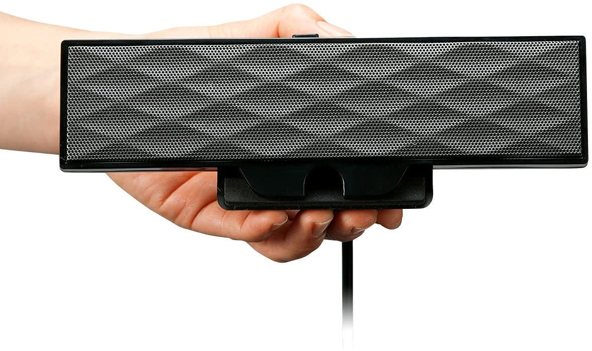サンワサプライ USB電源サウンドバースピーカー 6W クリップ式 MM-SPL11UBK