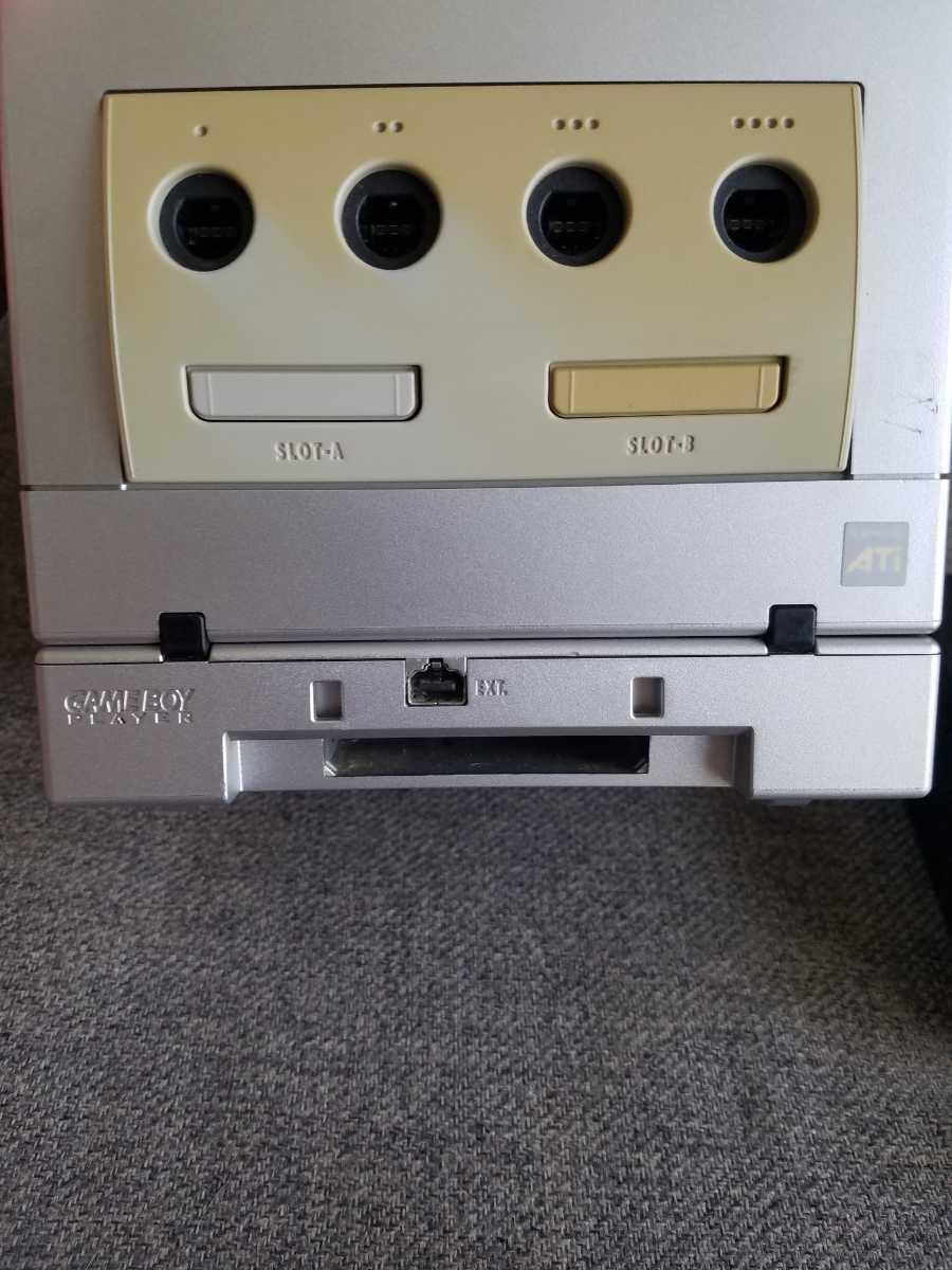 Nintendo 任天堂 ニンテンドー ゲームキューブ 本体 シルバー 動作確認済 ゲームボーイプレイヤー付き すぐ遊べるセット コントローラー