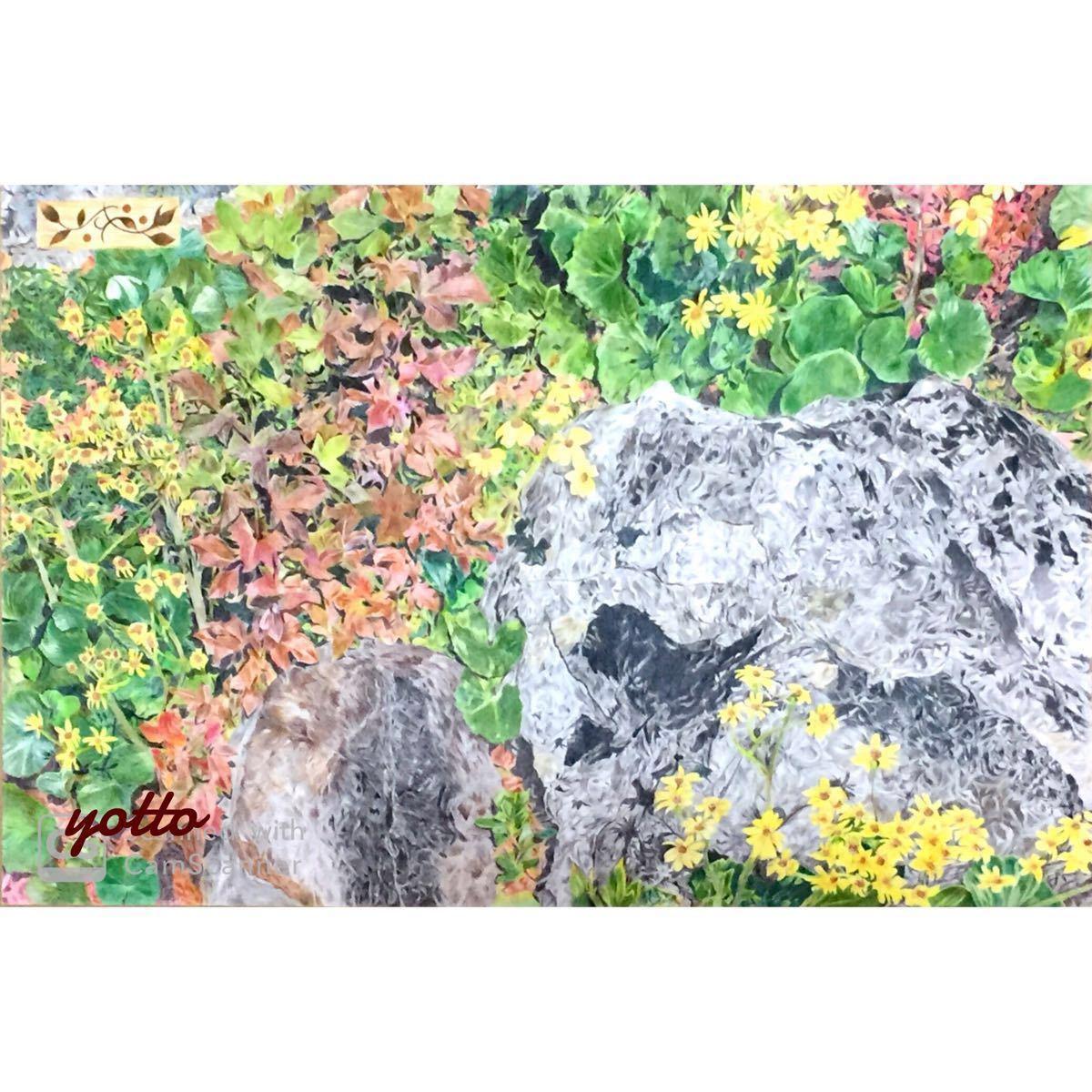 色鉛筆画「 出会い 」A2・額付き◇◆手描き◇原画◆風景画◇◆yotto_画像1