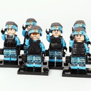 【国内発送】MOC LEGO ブロック 互換 ARMY ロシア軍特殊部隊 アンチテロ部隊 カスタム ミニフィグ 6体セット 大量武器・兵器付き D220_画像5