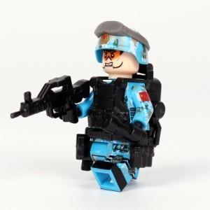 【国内発送】MOC LEGO ブロック 互換 ARMY ロシア軍特殊部隊 アンチテロ部隊 カスタム ミニフィグ 6体セット 大量武器・兵器付き D220_画像6