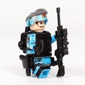 【国内発送】MOC LEGO ブロック 互換 ARMY ロシア軍特殊部隊 アンチテロ部隊 カスタム ミニフィグ 6体セット 大量武器・兵器付き D220_画像7