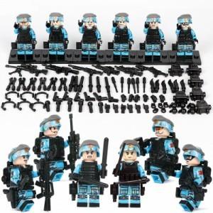 【国内発送】MOC LEGO ブロック 互換 ARMY ロシア軍特殊部隊 アンチテロ部隊 カスタム ミニフィグ 6体セット 大量武器・兵器付き D220_画像2