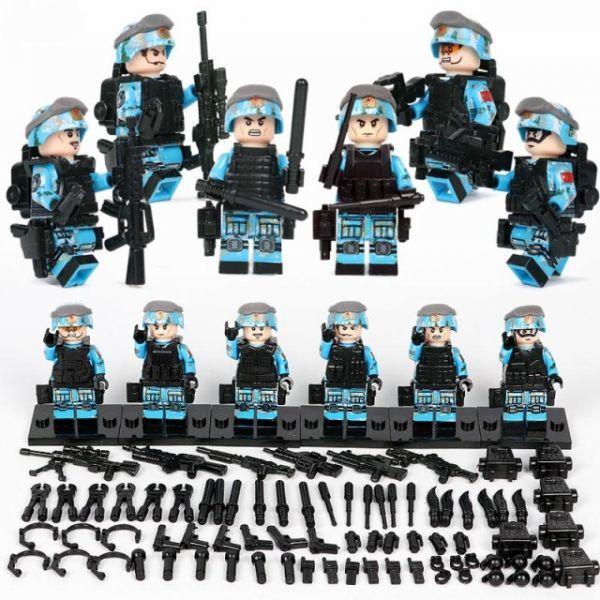 【国内発送】MOC LEGO ブロック 互換 ARMY ロシア軍特殊部隊 アンチテロ部隊 カスタム ミニフィグ 6体セット 大量武器・兵器付き D220_画像1