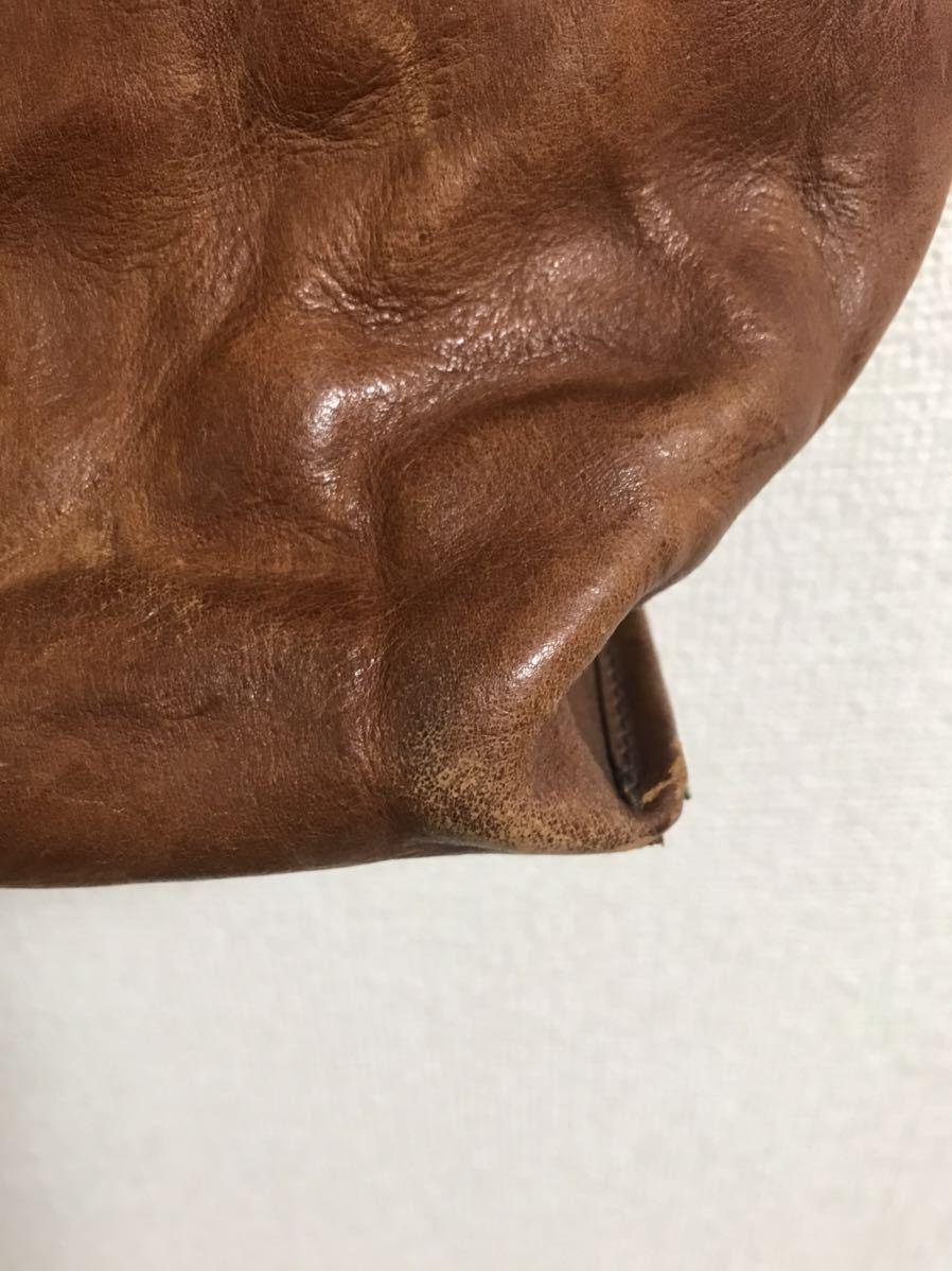 【Paul Smith ポールスミス シワ加工 上質 レザー 牛革 トートバッグ 皺 しわ 洗い加工 ウォッシュ加工 横44cm 縦30cm ポケット 収納多】