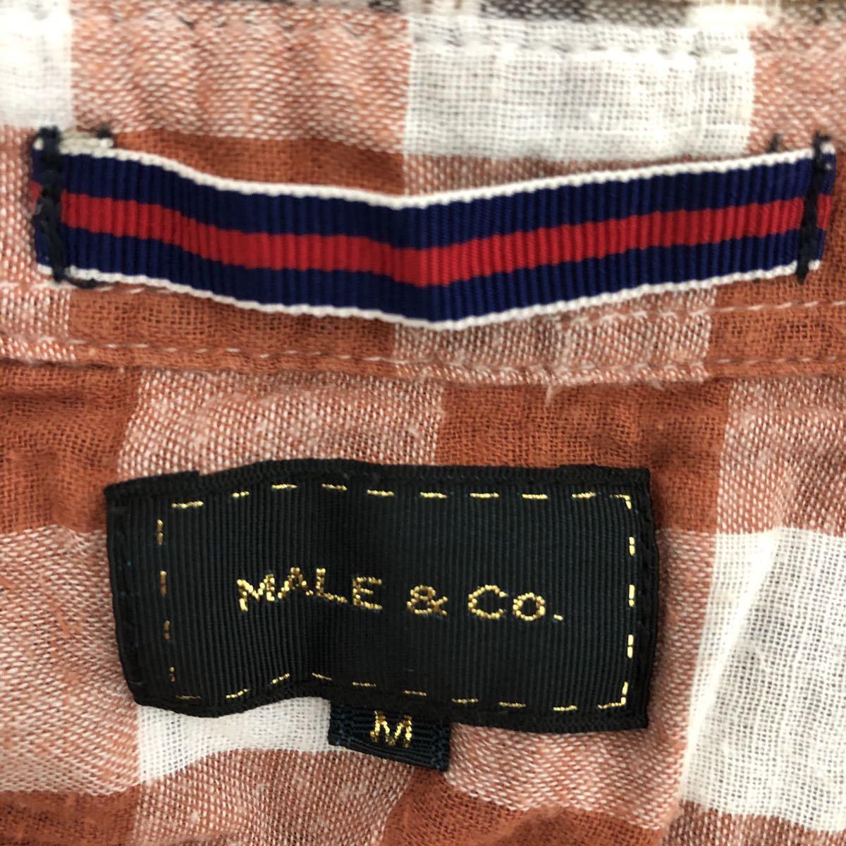 美品です!着心地抜群の柔らか素材 チェック柄半袖シャツ メンズM チェックシャツ チェック柄