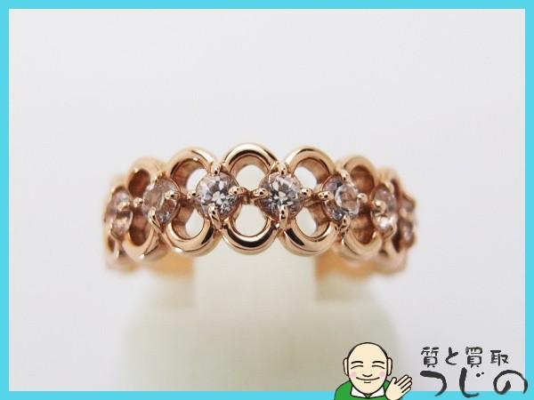 送料無料 4℃ K10PG リング サイズ10号 キュービックジルコニア 指輪 ヨンドシー 質屋 神戸つじの_画像1