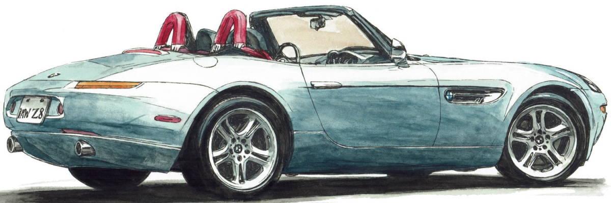 GC-1079 BMW 2002 turbo/Z8・GC-1080 BMW 2002 /3.0csi限定版画300部 直筆サイン有 額装済●作家 平右ヱ門 希望ナンバーをお選び下さい。_BMW Z8