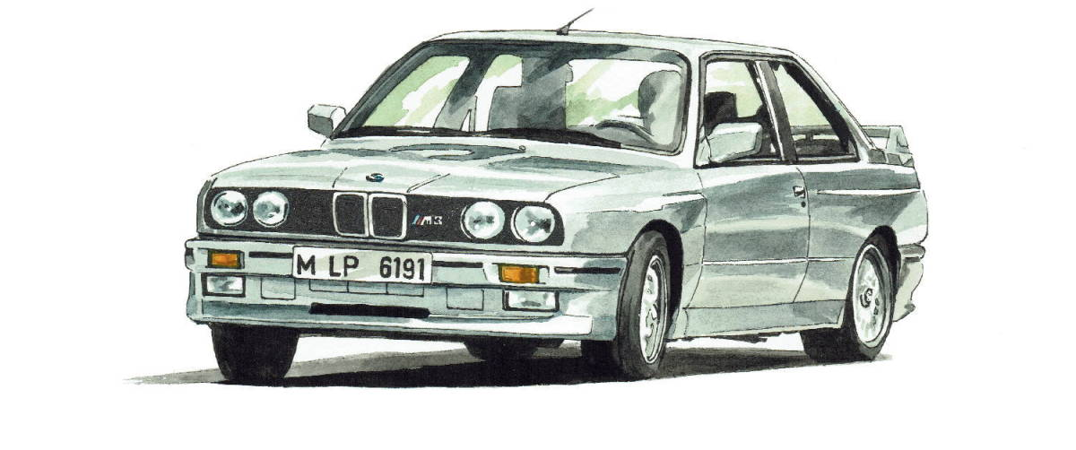 GC-1071 BMW 325iA/2002 turbo・GC-1072 635csi/2002 turbo限定版画300部 直筆サイン有 額装済●作家 平右ヱ門 希望ナンバーをお選び下さい_BMW 325iA E30