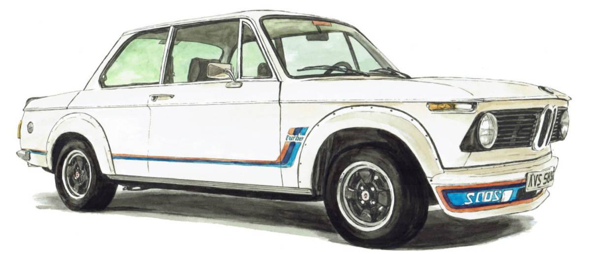 GC-1079 BMW 2002 turbo/Z8・GC-1080 BMW 2002 /3.0csi限定版画300部 直筆サイン有 額装済●作家 平右ヱ門 希望ナンバーをお選び下さい。_BMW 2002 turbo