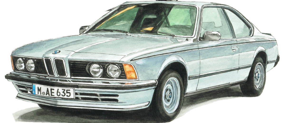 GC-1139 BMW アルピナB9/635csi・GC-1140 アルピナB9/524i限定版画300部 直筆サイン有 額装済●作家 平右ヱ門 希望ナンバーをお選び下さい_BMW 635csi