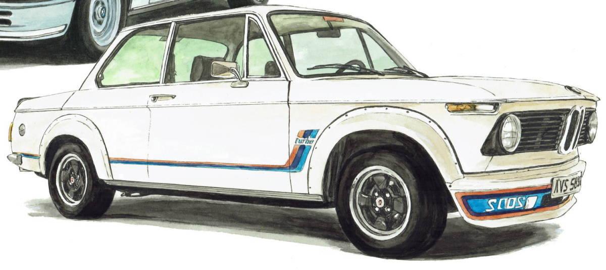 GC-1071 BMW 325iA/2002 turbo・GC-1072 635csi/2002 turbo限定版画300部 直筆サイン有 額装済●作家 平右ヱ門 希望ナンバーをお選び下さい_BMW 2002 turbo