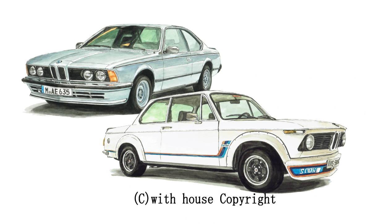 GC-1071 BMW 325iA/2002 turbo・GC-1072 635csi/2002 turbo限定版画300部 直筆サイン有 額装済●作家 平右ヱ門 希望ナンバーをお選び下さい_BMW 635csi/BMW 2002 turbo