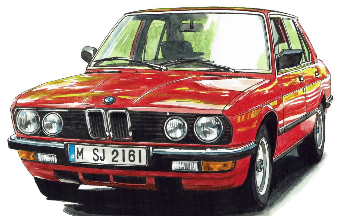 GC-1139 BMW アルピナB9/635csi・GC-1140 アルピナB9/524i限定版画300部 直筆サイン有 額装済●作家 平右ヱ門 希望ナンバーをお選び下さい_BMW 524i