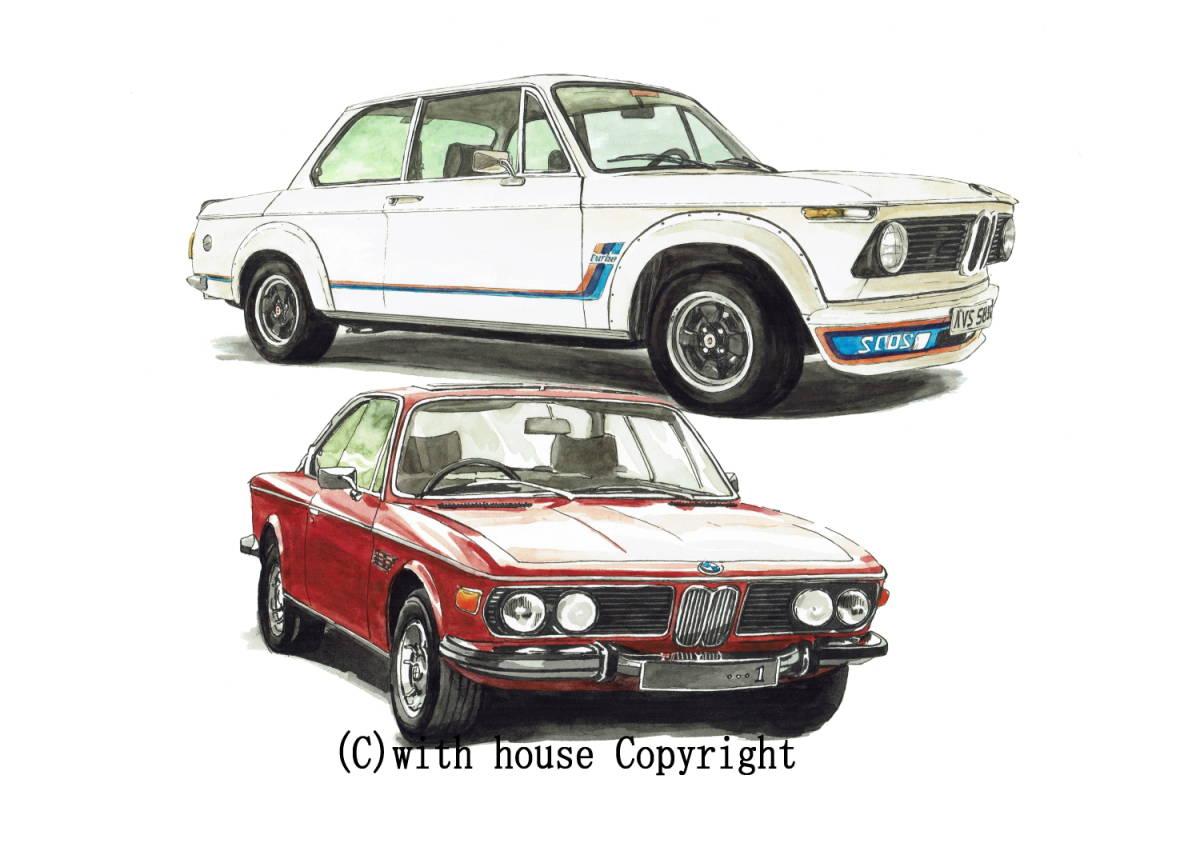 GC-1079 BMW 2002 turbo/Z8・GC-1080 BMW 2002 /3.0csi限定版画300部 直筆サイン有 額装済●作家 平右ヱ門 希望ナンバーをお選び下さい。_BMW 2002turbo/BMW 3.0csi