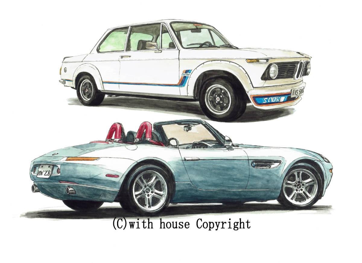 GC-1079 BMW 2002 turbo/Z8・GC-1080 BMW 2002 /3.0csi限定版画300部 直筆サイン有 額装済●作家 平右ヱ門 希望ナンバーをお選び下さい。_BMW 2002 turbo/BMW Z8