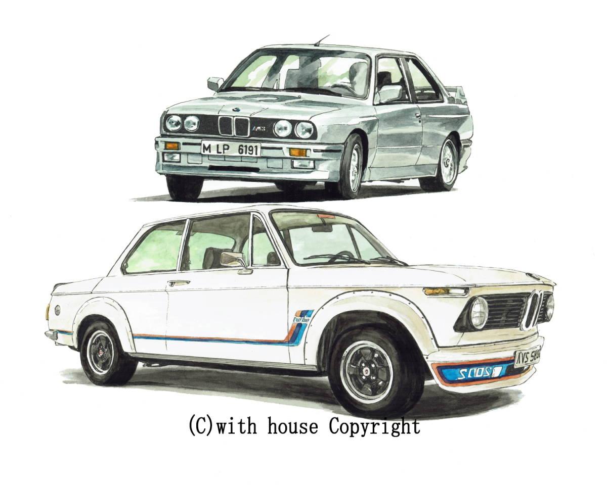 GC-1071 BMW 325iA/2002 turbo・GC-1072 635csi/2002 turbo限定版画300部 直筆サイン有 額装済●作家 平右ヱ門 希望ナンバーをお選び下さい_BMW 325iA E30/BMW 2002 turbo