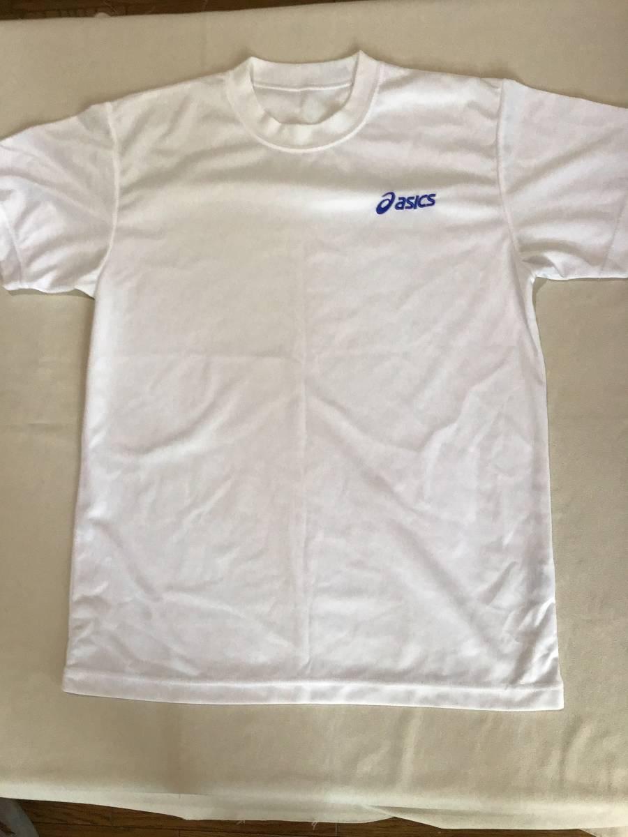 アシックス クールネックシャツ 半袖 M 白 ポリエステル100%_画像2