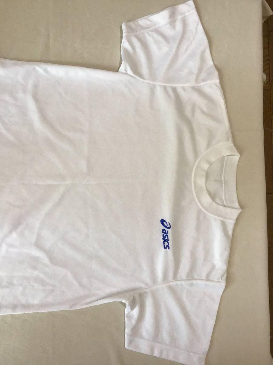 アシックス クールネックシャツ 半袖 M 白 ポリエステル100%_画像3
