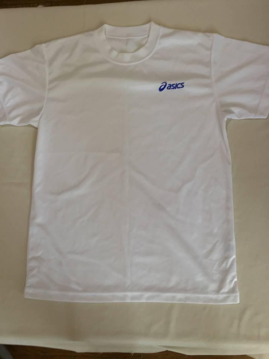 アシックス クールネックシャツ 半袖 M 白 ポリエステル100%_画像10