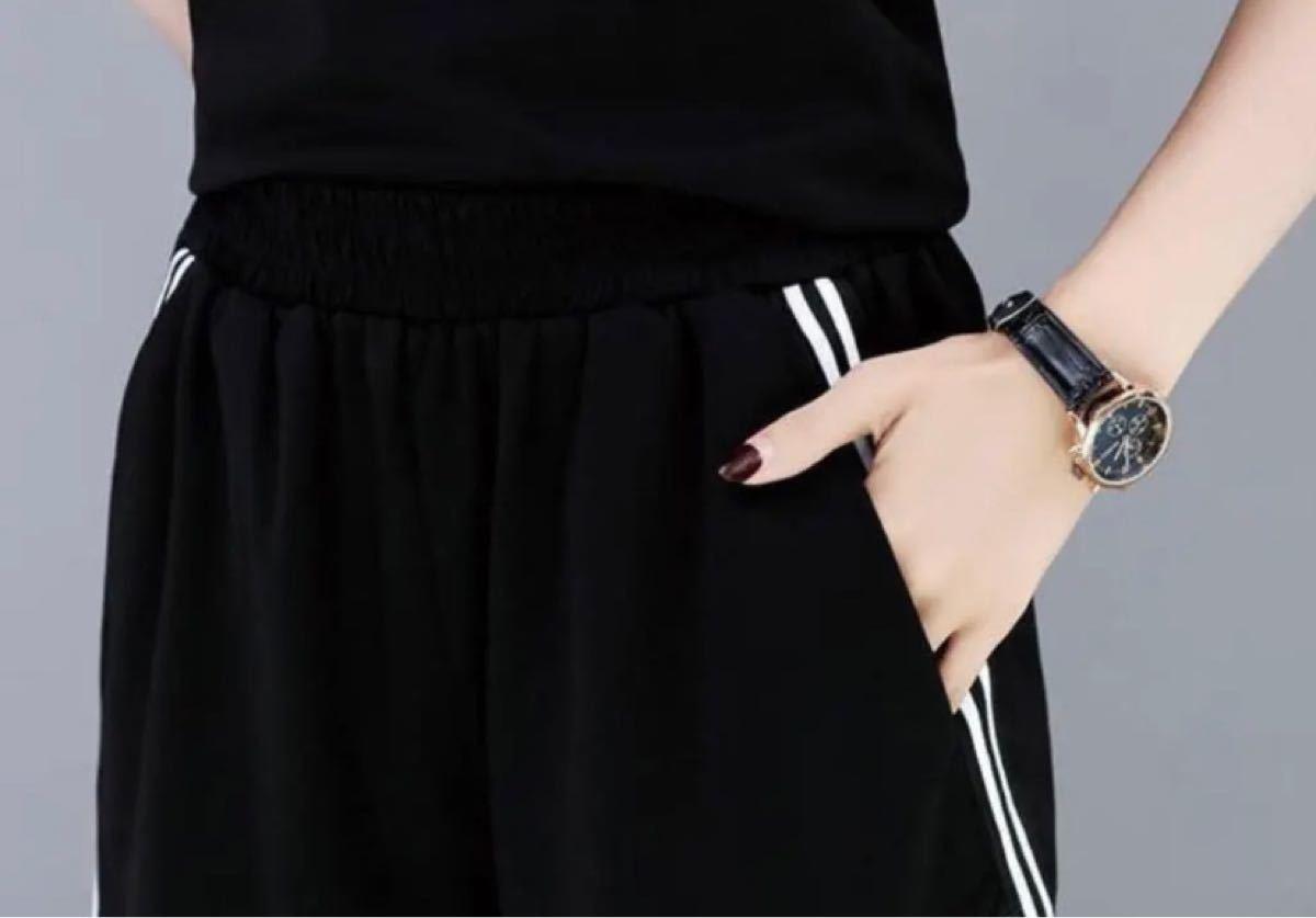 ルームウェア 上下セット セットアップ 半袖 パジャマ ショートパンツ XL