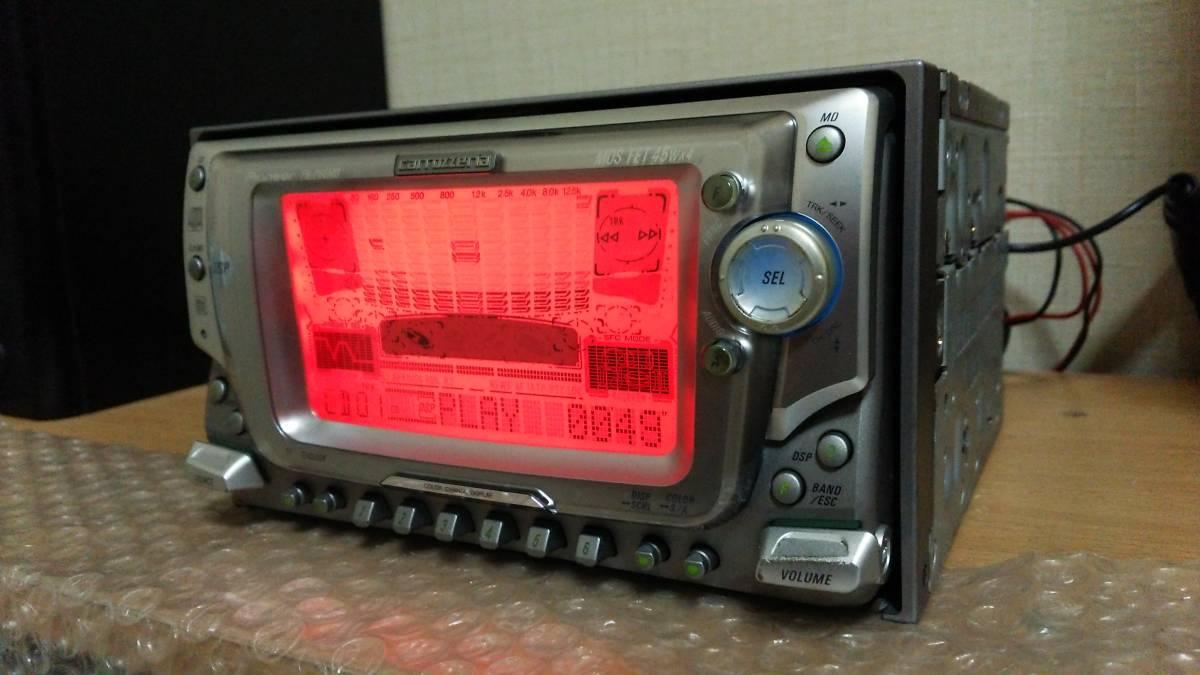 carrozzeria カロッツェリア CD/MDデッキ CD/MDプレーヤー オーディオ FH-P66MD 45W×4ch 2din 動作OK 【DSP/EQ AM/FM ラジオ チューナー_画像5
