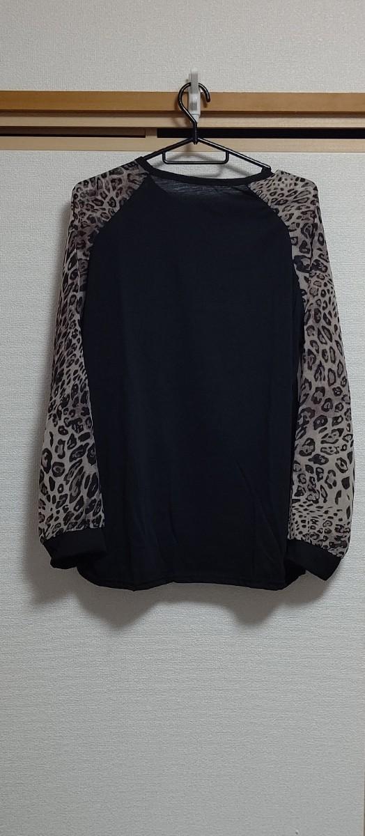 レディース トップス カットソー シャツ  長袖 シースルー 大きいサイズ 3L