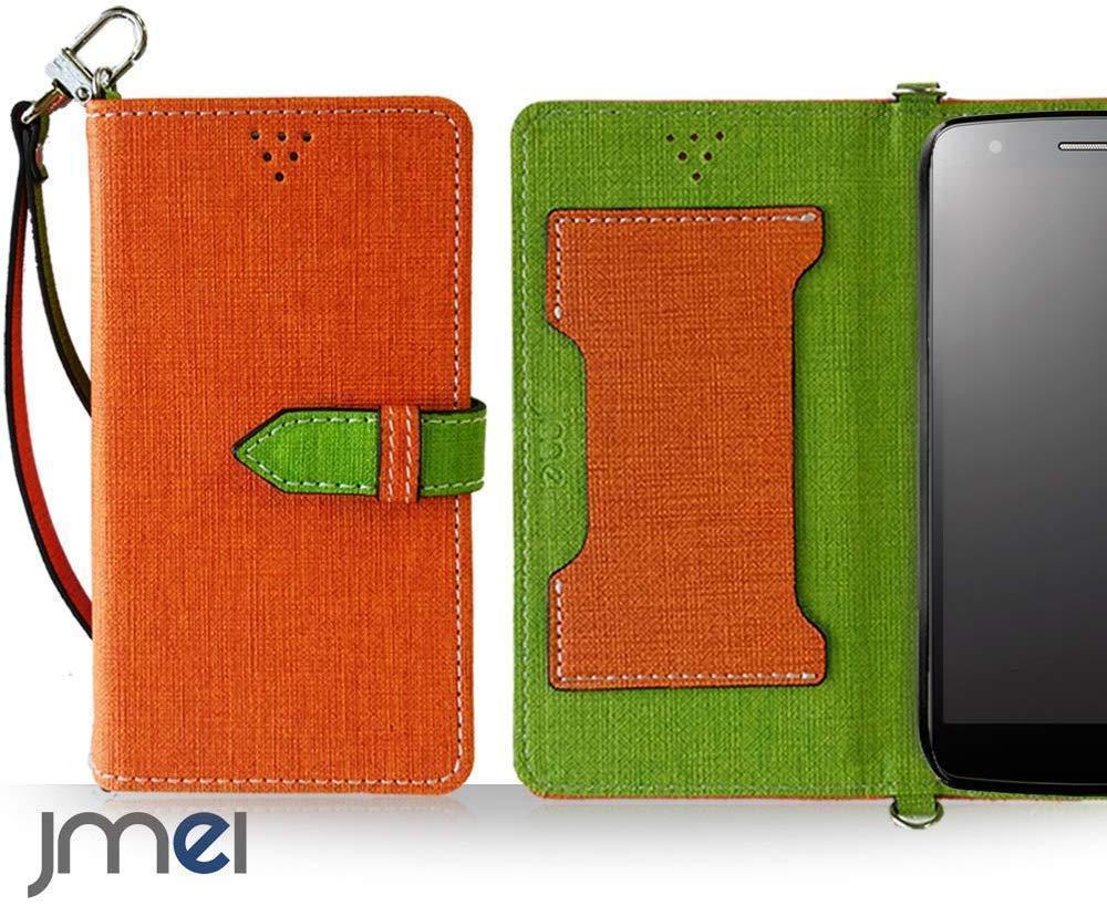 android one S6 アンドロイドワン kyocera ケース スマートフォン 新品 手帳型スマホケース ポーチ カバー レザー 携帯 人気 オレンジ_画像1